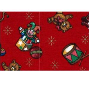 Baumwollstoff gemustert, 100x115cm, Weihnachtsmotive