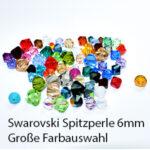 Swarovski Schliffspitzperle, 6mm, 12St., verschiedene Farben