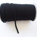Einziehgummi flach, 3mm, 5 Meter, schwarz, Gummiband