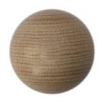 Holzperlen rund unlackiert, Rohholzkugeln mit Loch, verschiedene Größen (8mm/10mm/12mm)
