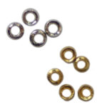 Quetschperlen 2.6mm, 1g ca. 29 Stück / 5g ca. 145 Stück, in 2 Farben (Silber/Gold)