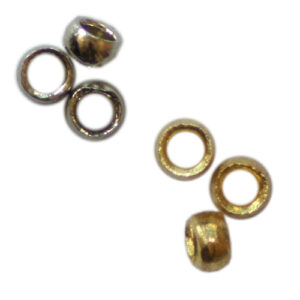 Quetschperlen 3.0mm, 1g ca. 14 Stück / 5g ca. 70 Stück, in 2 Farben (Silber und Gold)