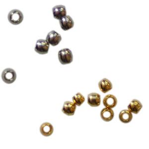 Quetschperlen 1.8mm, 1g ca. 72 Stück / 5g ca. 360 Stück, in 2 Farben (Silber und Gold)