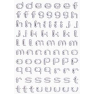 3D SOFTY Sticker-Set Kleinbuchstaben, ca. 100 Buchstaben zum Aufkleben, verschiedene Farben