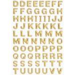 3D SOFTY Sticker-Set Großbuchstaben, ca. 100 Buchstaben zum Aufkleben, verschiedene Farben