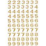 3D SOFTY Sticker-Set Zahlen, ca. 100 Zahlen zum Aufkleben, verschiedene Farben