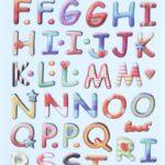 3D SOFTY Sticker-Set Buntes Alphabet, ca. 65 Aufkleber für Partys oder zum Dekorieren