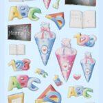 3D SOFTY Sticker-Set Schule/Einschulung II, 30 Aufkleber für Partys oder zum Dekorieren
