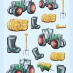 3D SOFTY Sticker-Set Traktor, 20 Aufkleber für Partys oder zum Dekorieren