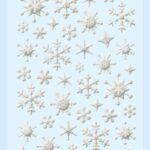 3D SOFTY Sticker-Set Eiskristalle, ca. 56 Aufkleber für Partys oder zum Dekorieren, gold oder silber
