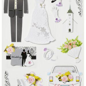 Sticker-Set Hochzeit II, attraktive Aufkleber für Partys oder zum Dekorieren