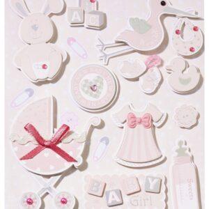 Sticker-Set Baby Mädchen, attraktive Aufkleber für Partys oder zum Dekorieren