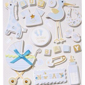 Sticker-Set Baby Junge, attraktive Aufkleber für Partys oder zum Dekorieren