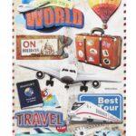Sticker-Set Reise II, attraktive Aufkleber für Partys oder zum Dekorieren