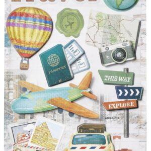 Sticker-Set Reise, attraktive Aufkleber für Partys oder zum Dekorieren