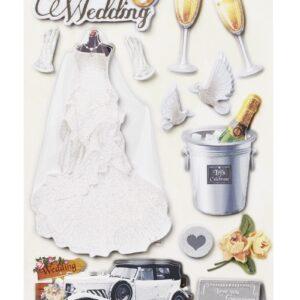 Sticker-Set Hochzeit, attraktive Aufkleber für Partys oder zum Dekorieren