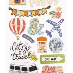 Sticker-Set Reise III, attraktive Aufkleber für Partys oder zum Dekorieren