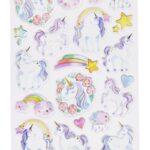 Glossy Sticker-Set Einhorn, attraktive Aufkleber für Partys oder zum Dekorieren