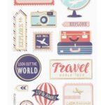 3D SOFTY Sticker-Set Travel, 13 Aufkleber für Partys oder zum Dekorieren