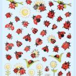 Sticker-Set Marienkäfer, attraktive Aufkleber für Partys oder zum Dekorieren