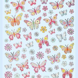Sticker-Set Schmetterling, attraktive Aufkleber für Partys oder zum Dekorieren