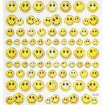 Sticker-Set Smiley, ca. 74 attraktive Aufkleber für Partys oder zum Dekorieren