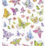 Sticker-Set Schmetterling II, attraktive Aufkleber für Partys oder zum Dekorieren