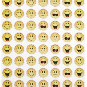 Sticker-Set Smiley, ca. 56 attraktive Aufkleber für Partys oder zum Dekorieren