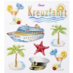 Sticker-Set Kreuzfahrt, ca. 8 attraktive Aufkleber für Partys oder zum Dekorieren