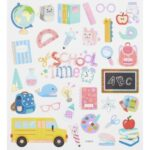 Sticker-Set Schule, ca. 32 attraktive Aufkleber für Partys oder zum Dekorieren