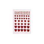 Strass-Herzen zum Kleben, 54 Stück 4-10mm, kristall/rosa/rot