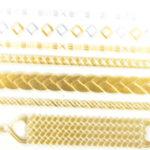 Shiny Tattoos gold-silber 16x8cm, metallische temporäre Tätowierungen