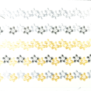 Tattoos gold-silber-schwarz 16x8cm, metallische temporäre Tätowierungen