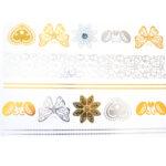 Shiny Tattoos gold-silber-schwarz 20x15cm, metallische temporäre Tätowierungen
