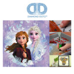 """Diamond Dotz Disney Frozen II, """"Sisters"""" Anna und Elsa, funkelndes Diamantbild zum Selbstgestalten, ca. 40 x 40 cm groß, Malen mit Diamanten"""
