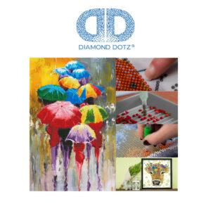 """Diamond Dotz Motiv """"Rainy Day"""", funkelndes Diamantbild zum Selbstgestalten, ca. 37 x 57 cm groß, Malen mit Diamanten"""