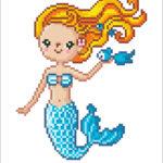 """Diamond Dotz Motiv """"Süße Meerjungfrau"""", funkelndes Diamantbild zum Selbstgestalten ca. 23 x 25 cm groß, Malen mit Diamanten"""