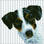 """Diamond Dotz Motiv """"Hund"""", funkelndes Diamantbild zum Selbstgestalten ca. 23 x 23 cm groß, Malen mit Diamanten"""