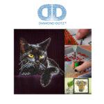 """Diamond Dotz Motiv """"Katze"""", funkelndes Diamantbild zum Selbstgestalten ca. 28 x 35.5 cm groß, Malen mit Diamanten"""
