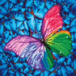 """Diamond Dotz Motiv """"Schmetterling"""", funkelndes Diamantbild zum Selbstgestalten ca. 27 cm x 35 cm groß, Malen mit Diamanten"""