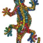 """Diamond Dotz Motiv """"Gecko"""", funkelndes Diamantbild zum Selbstgestalten ca. 27 cm x 41 cm groß, Malen mit Diamanten"""