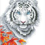 """Diamond Dotz Motiv """"Tiger"""", funkelndes Diamantbild zum Selbstgestalten ca. 45,7 cm x 35,5 cm groß, Malen mit Diamanten"""