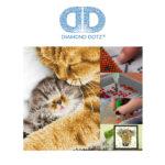"""Diamond Dotz Motiv """"Kätzchen"""", funkelndes Diamantbild zum Selbstgestalten ca. 30 cm x 41 cm groß, Malen mit Diamanten"""