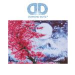 """Diamond Dotz Motiv """"Kirschblüten"""", funkelndes Diamantbild zum Selbstgestalten ca. 52 cm x 38 cm groß, Malen mit Diamanten"""