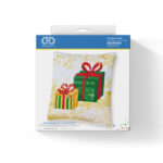 """Diamond Dotz Kissenbezug Motiv """"Weihnachtsgeschenk"""", funkelndes Kissen zum Selbstgestalten ca. 18 cm x 18 cm groß, Malen mit Diamanten"""