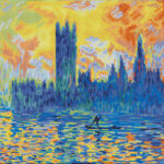 """Diamond Dotz Motiv """"London Parliament in Winter"""", funkelndes Diamantbild zum Selbstgestalten ca. 46 x 41 cm groß, Malen mit Diamanten"""