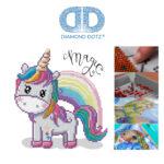 """Diamond Dotz Motiv """"Magic Rainbow"""", funkelndes Diamantbild zum Selbstgestalten ca. 20 x 20 cm groß, Malen mit Diamanten"""