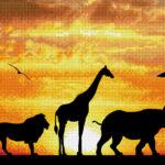 """Diamond Dotz Motiv """"African Sky"""", funkelndes Diamantbild zum Selbstgestalten ca. 22,5 x 72 cm groß, Malen mit Diamanten"""