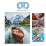 """Diamond Dotz Motiv """"Fjord Travel"""", funkelndes Diamantbild zum Selbstgestalten ca. 51,5 x 41,5 cm groß, Malen mit Diamanten"""