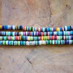Katsuki Perlen 5mm mit 1,8 mm Loch, Perlenmischung aus Polymer Clay, ca. 380 St./Strang